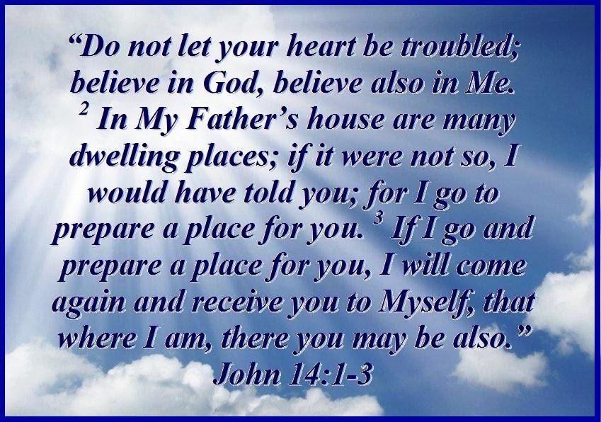 TRUST IN MY PROMISES – John 14:1-3