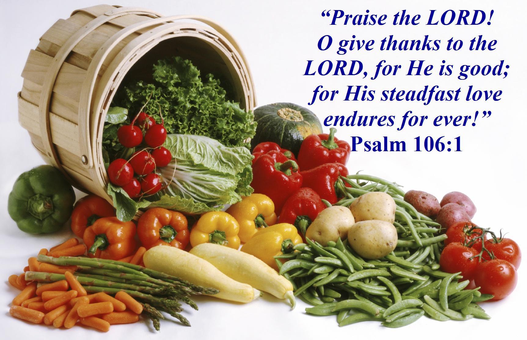 THANKSGIVING BLESSINGS – Praising God – Psalm 106:1