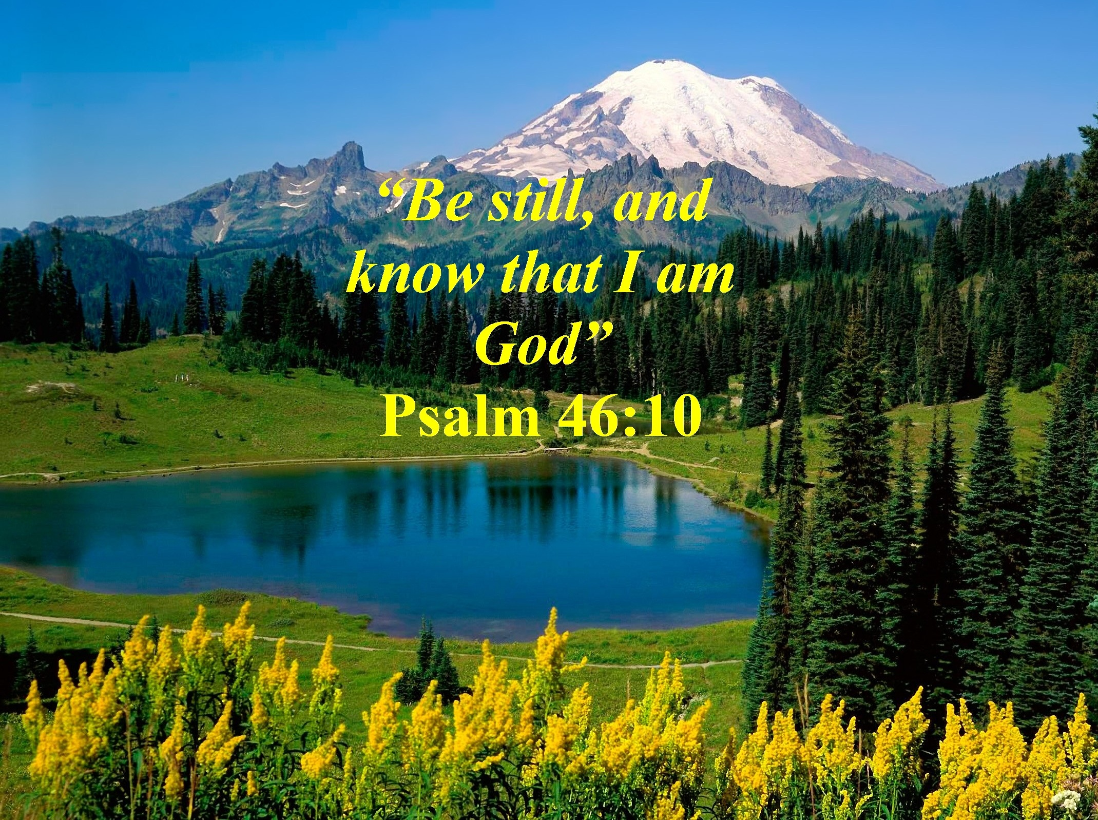 Psalm 46:10 Inspirational Images