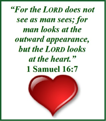 Image result for god sees the heart