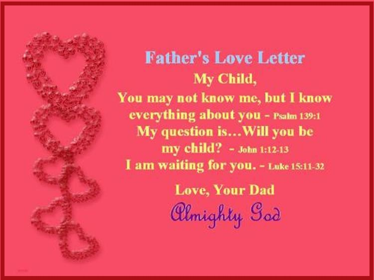 father's love letter – psalm 139:1 | mission venture ministries