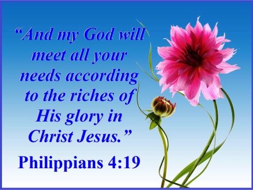 Philippians 4 vs 19