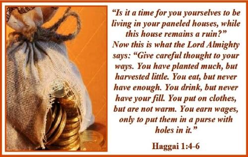 Haggai 1 vs 4-6