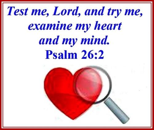 Psalm 26 vs 2