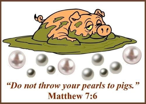Pearls - Matthew 7 vs 6