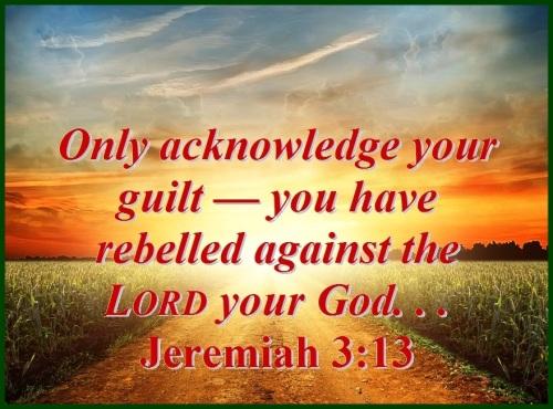 Jeremiah 3 vs 13