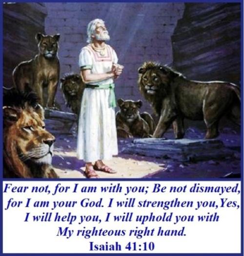 Isaiah 41 vs 10  Fear not