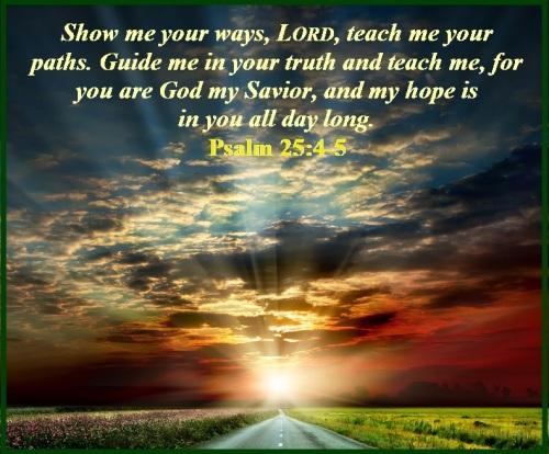 Psalm 25 vs 4-5