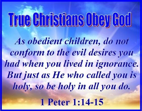 1 Peter 1 vs 14-15