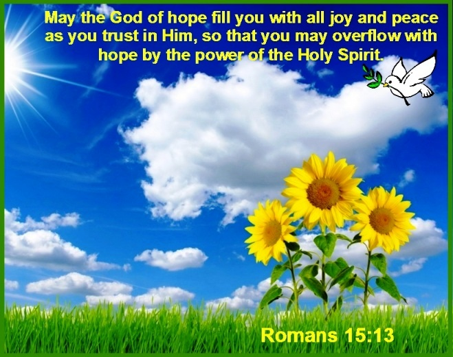 Image result for romans 15 13 images