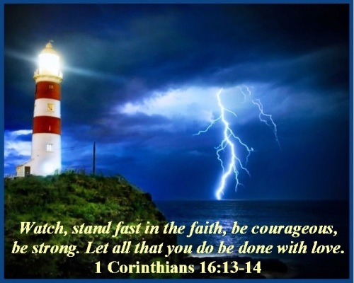 1 Corinthians 16 vs 13-14
