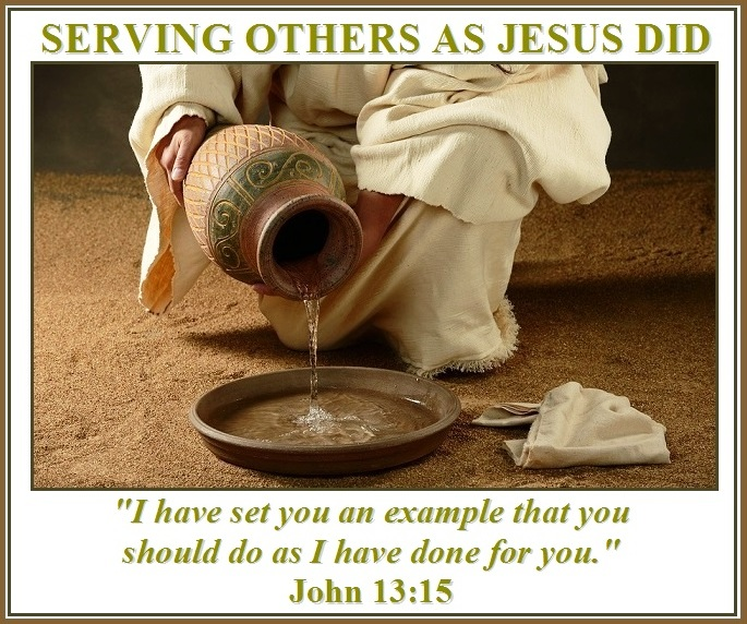 Image result for jesus serving others