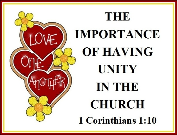 THE IMPORTANCE OF HAVING UNITY IN THE CHURCH – 1 Corinthians 1:10 | Mission  Venture Ministries