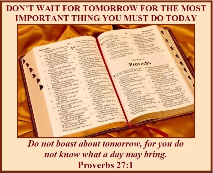Proverbs 27 vs 1