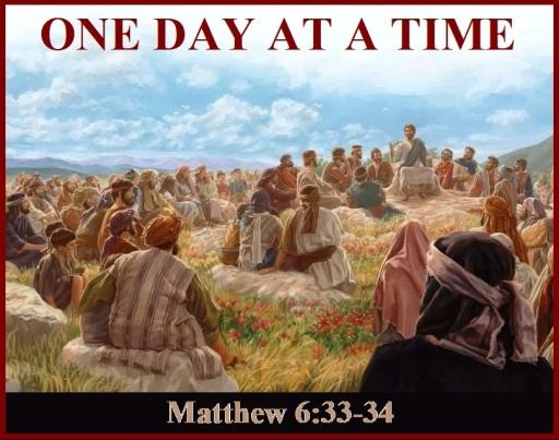 Matthew 6 vs 33-34