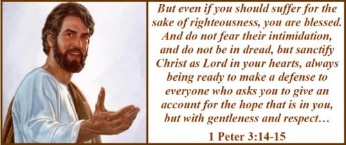 1 Peter 3 vs 14-16